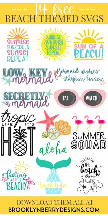 Free Summer Beach SVG files