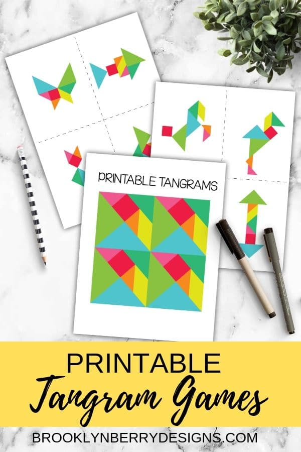 Printable Tangram Puzzle via @brookeberry