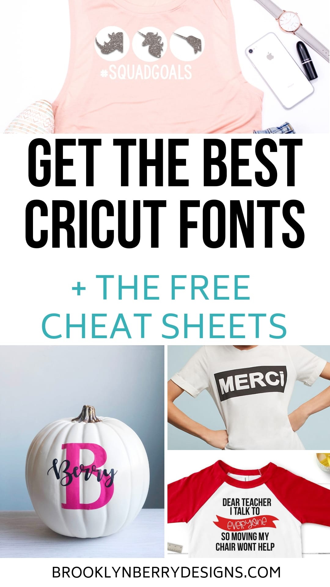 Get the best Cricut fonts and download the free printable cheat sheets. via @brookeberry