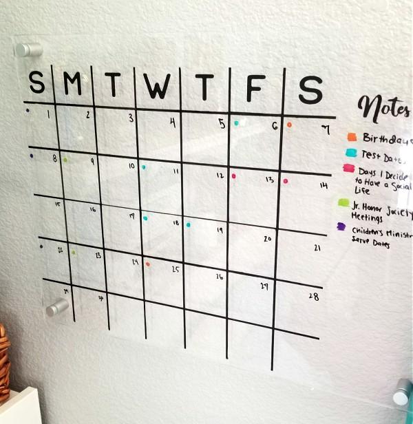 Acrylic Wall Calendar DIY with FREE Cut File!