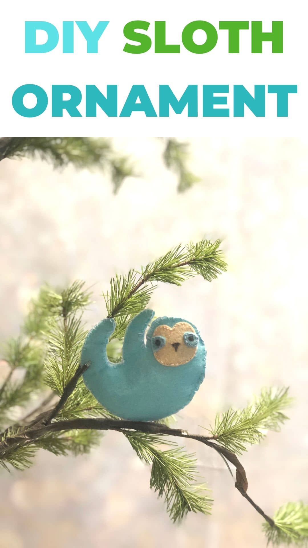DIY Sloth Ornament via @brookeberry