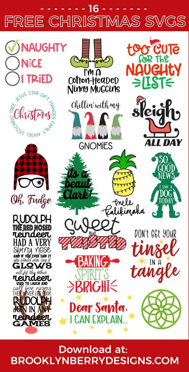 Free Gnome Svg : gnome, CHILLIN, GNOMIES, CHRISTMAS, Brooklyn, Berry, Designs