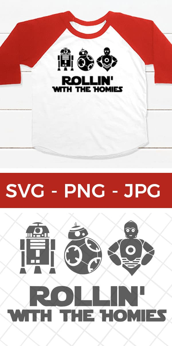 Make your own DIY Star Wars Shirts for the fans and park visitors in your life! Free svg cut file to use with iron-on vinyl cut with Cricut or Silhouette. via @brookeberry