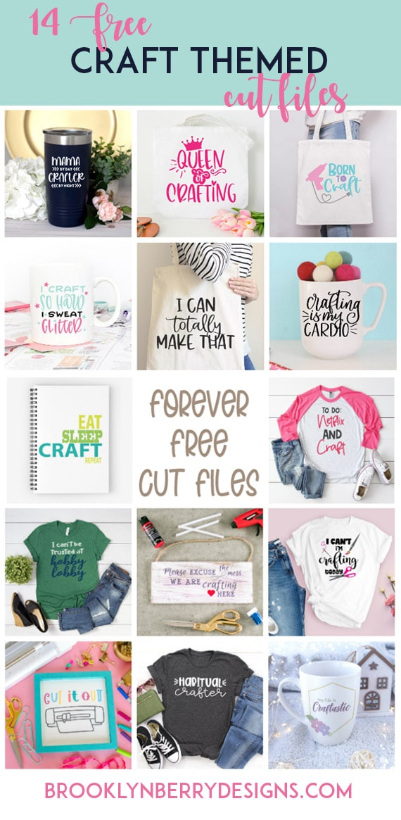 Free crafty svgs to get creative with using your silhouette or cricut cutting machine. via @brookeberry