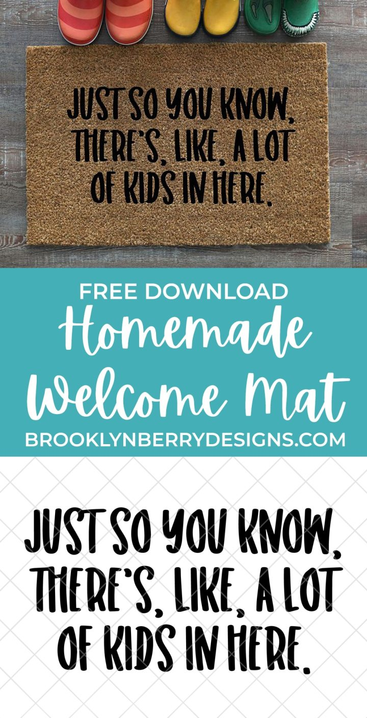 Homemade welcome mat - door mat with words painted on it