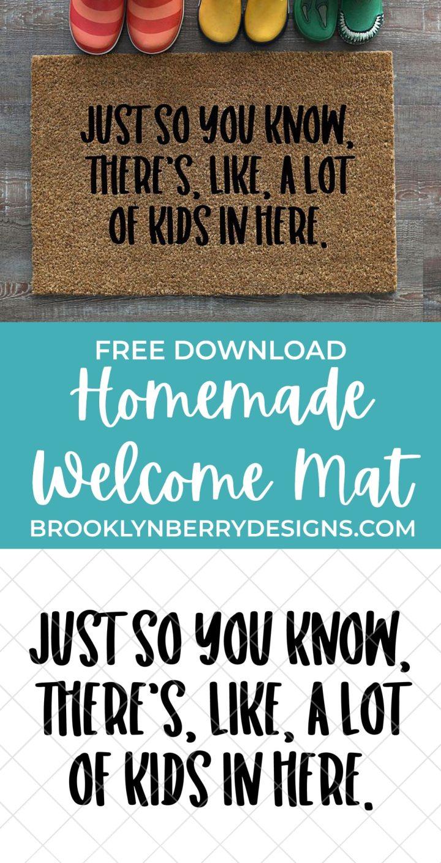 FREE FUNNY DOOR MAT SVG FILE via @brookeberry