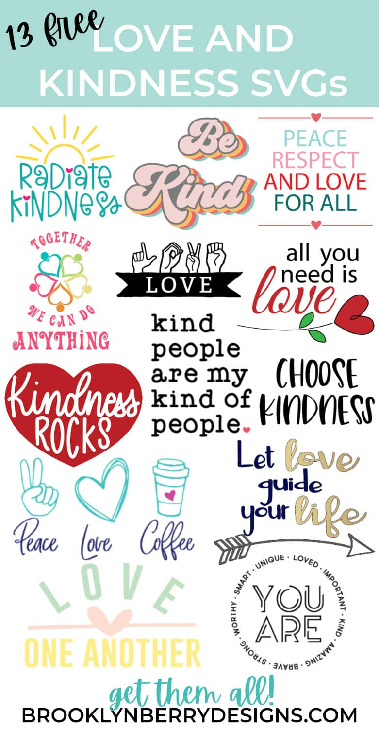 Download Be Kind SVG Free - Brooklyn Berry Designs