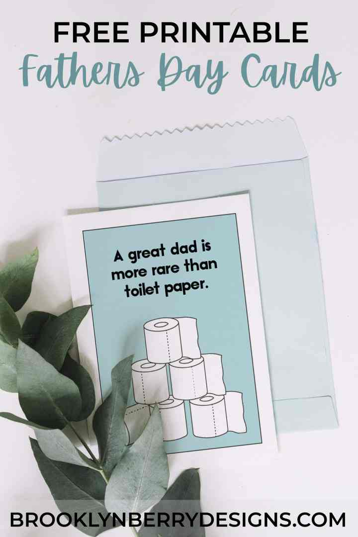 Get two free printable fathers day cards to download and print at home. Easy and free! via @brookeberry