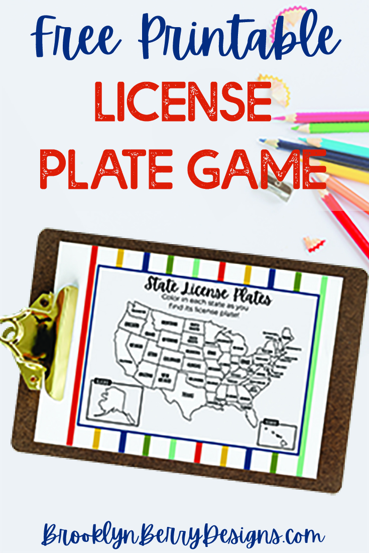 Provide screen free entertainment on a road trip with these Printable License Plate Game activity sheets. It includes all US States and Canadian Provinces. via @brookeberry