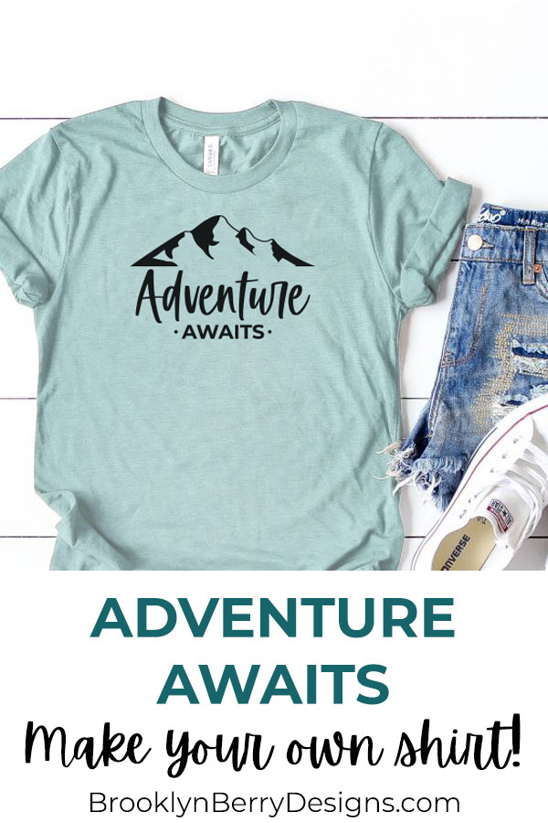 This Adventure Awaits SVG file is great for all your and adventure DIY projects - water bottles, tote bags, etc. via @brookeberry