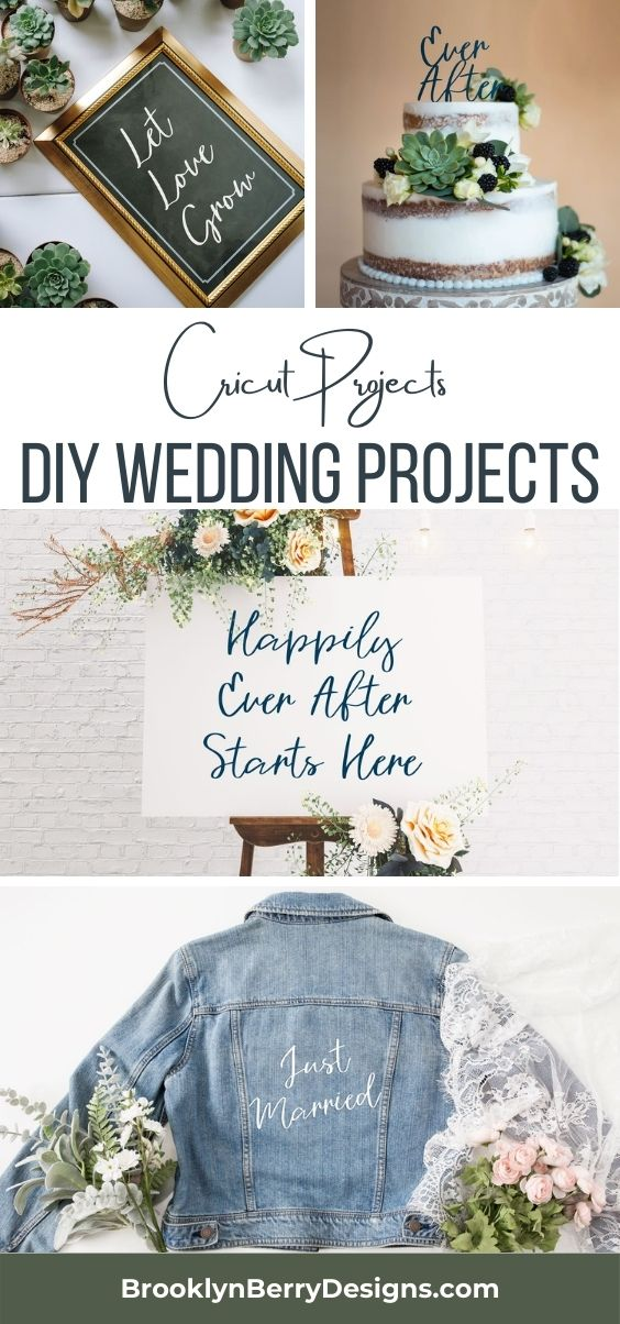 DIY Wedding Decor projects and free svg files to make on your Cricut