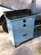 SMALL BLUE MEDICAL CABINET