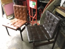 MID CENTURY LEATHER CHAIRS 3