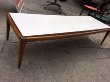 MID CENTURY MODERN COFFEE TABLE WITH MICA