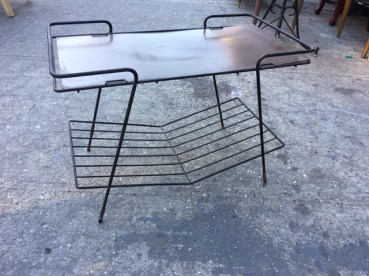 MID CENTURY RECORD STAND
