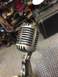 VINTAGE STAGE SHURE DYNAMIC MICROPHONE