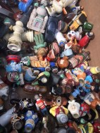 BOX OF MINI LIQUOR BOTTLES