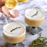 maple & thyme whiskey sour