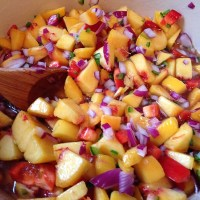 Canning Peach Salsa - Take 2