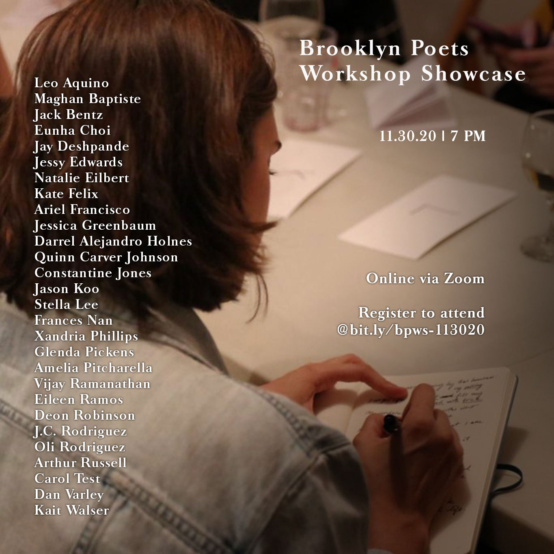 Brooklyn Poets Workshop Showcase