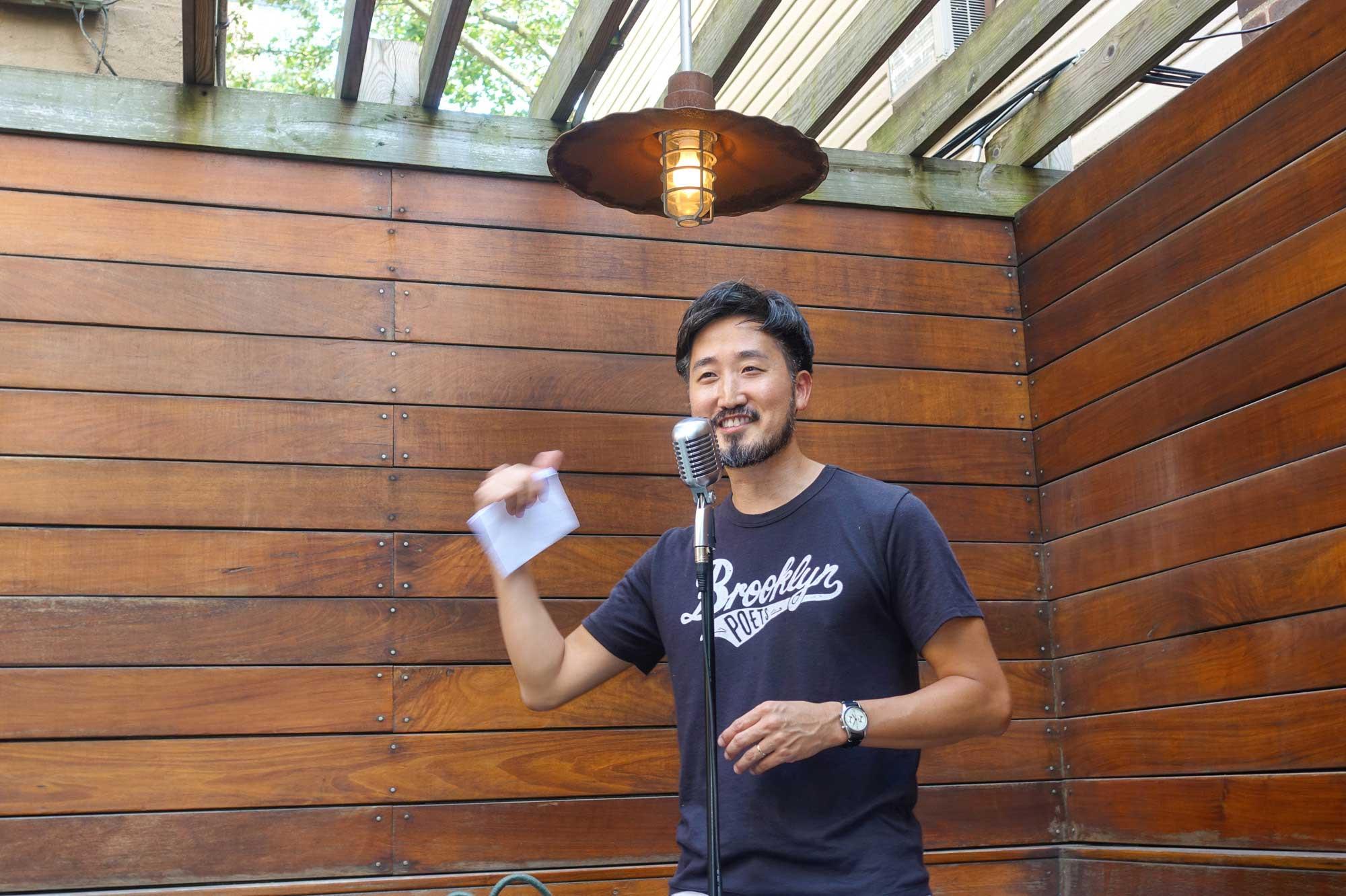 Jason Koo at the Brooklyn Poets Reading Series 7.18.21