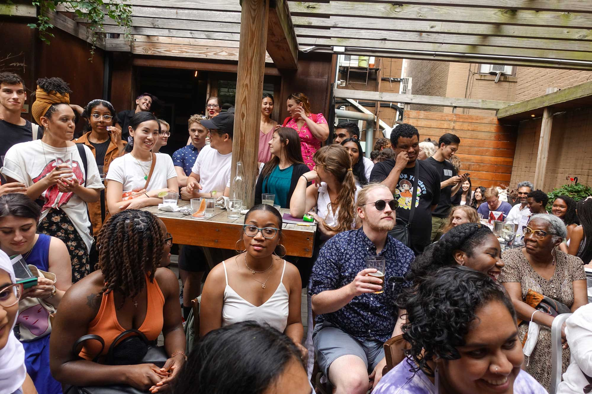 Audience at the Brooklyn Poets Reading Series 7.18.21