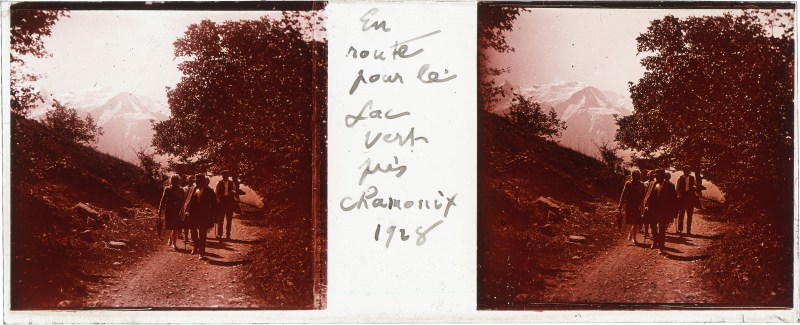 A stereographic plate-glass slide from the first box of the Puthon Collection.