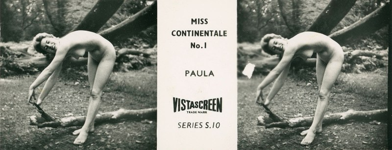 """An S-series """"Miss Continentale"""" card from the VistaScreen Series List."""