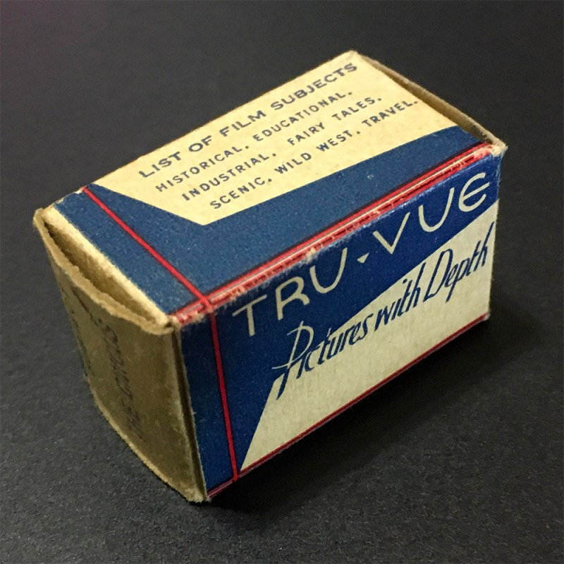 A picture of a Tru-Vue box for an unnumbered filmstrip yet to be featured on Brooklyn Stereography.