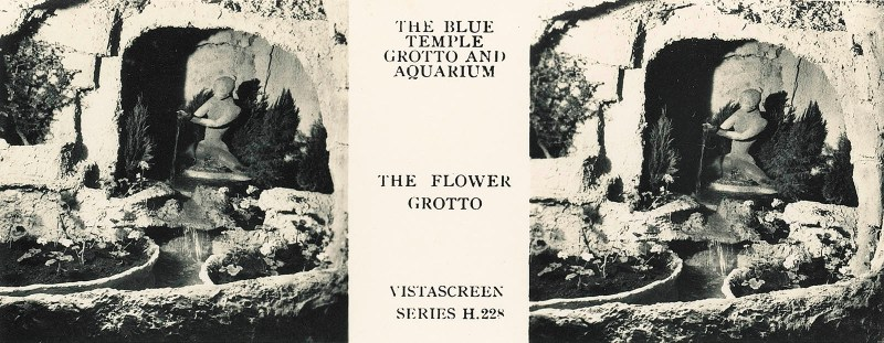 "A ""flower grotto"" at the Blue Grotto Aquarium."