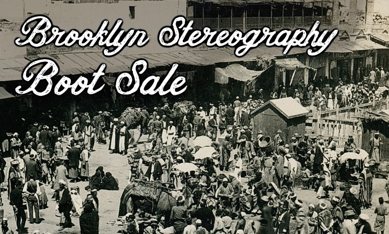 Brooklyn Stereography Boot Sale header image.