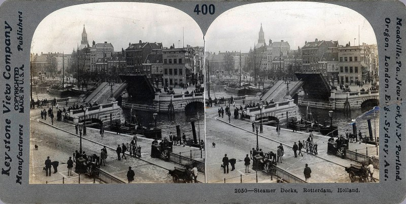 A view of the Rotterdam steamer docks.