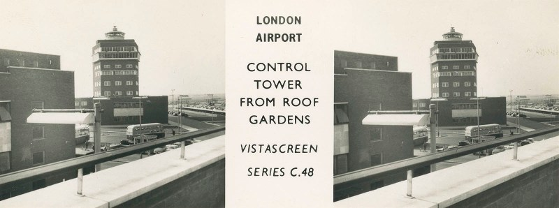 Heathrow Control Tower from Roof Gardens
