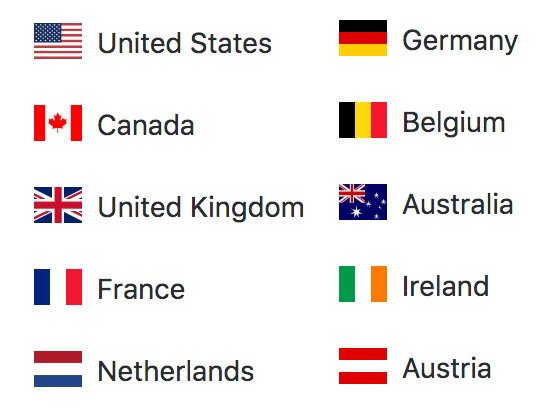 An image with the top 10 countries to visit Brooklyn Stereography.