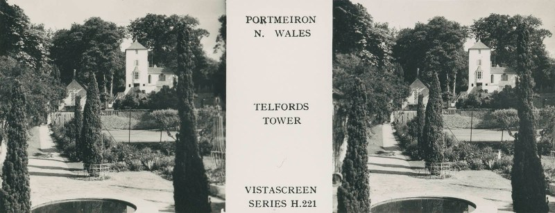 VistaScreen's view of Telfords Tower in Portmeirion
