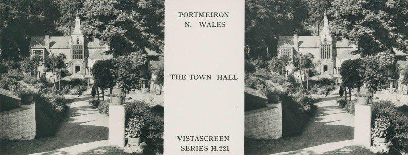 VistaScreen's view of the Town Hall in Portmeirion