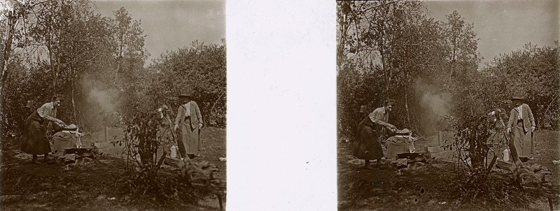 Random European Glass Stereoview #15