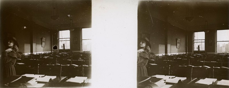Random European Glass Stereoview #16