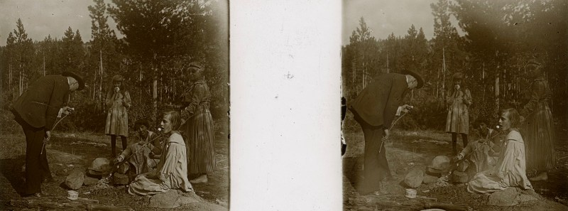 Random European Glass Stereoview #39
