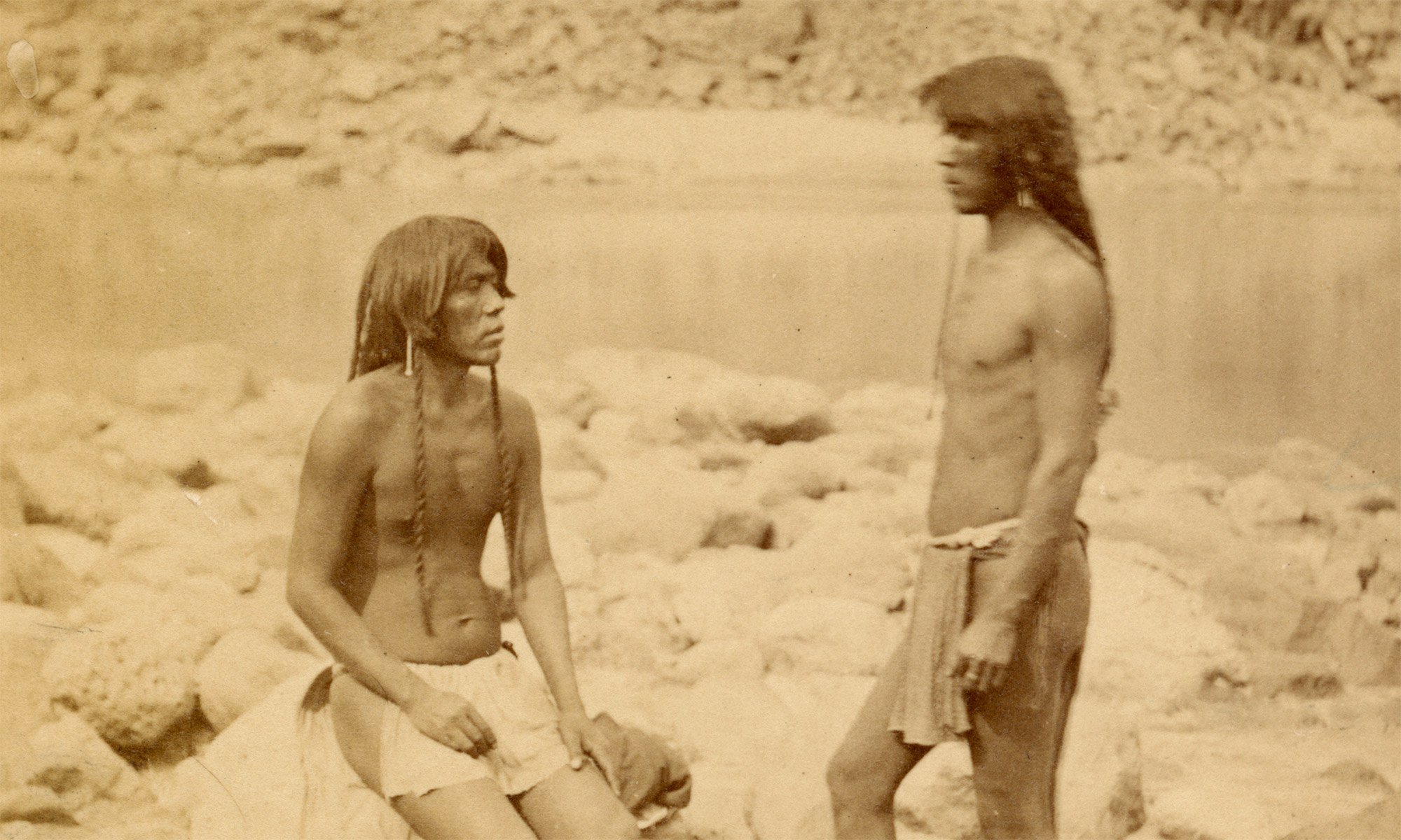 Header image depicting Mohave Indians, taken on the 1871 Wheeler Expedition, during which the Wickenburg Massacre occurred
