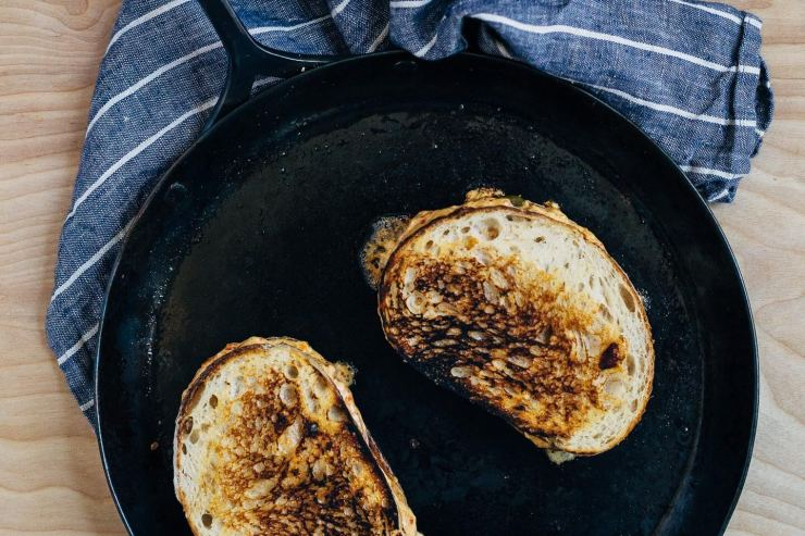Delightfully gooey and rich grilled pimento cheese sandwiches.