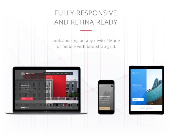 Brooks Theme is full responsive and retina ready theme. look amazing at any device!
