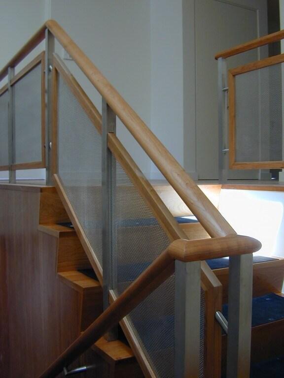 Custom Stainless Steel Stair Railings   Glass And Stainless Steel Stair Railing   Custom Glass   Architectural Glass   Balcony   Modern   Metal Glass