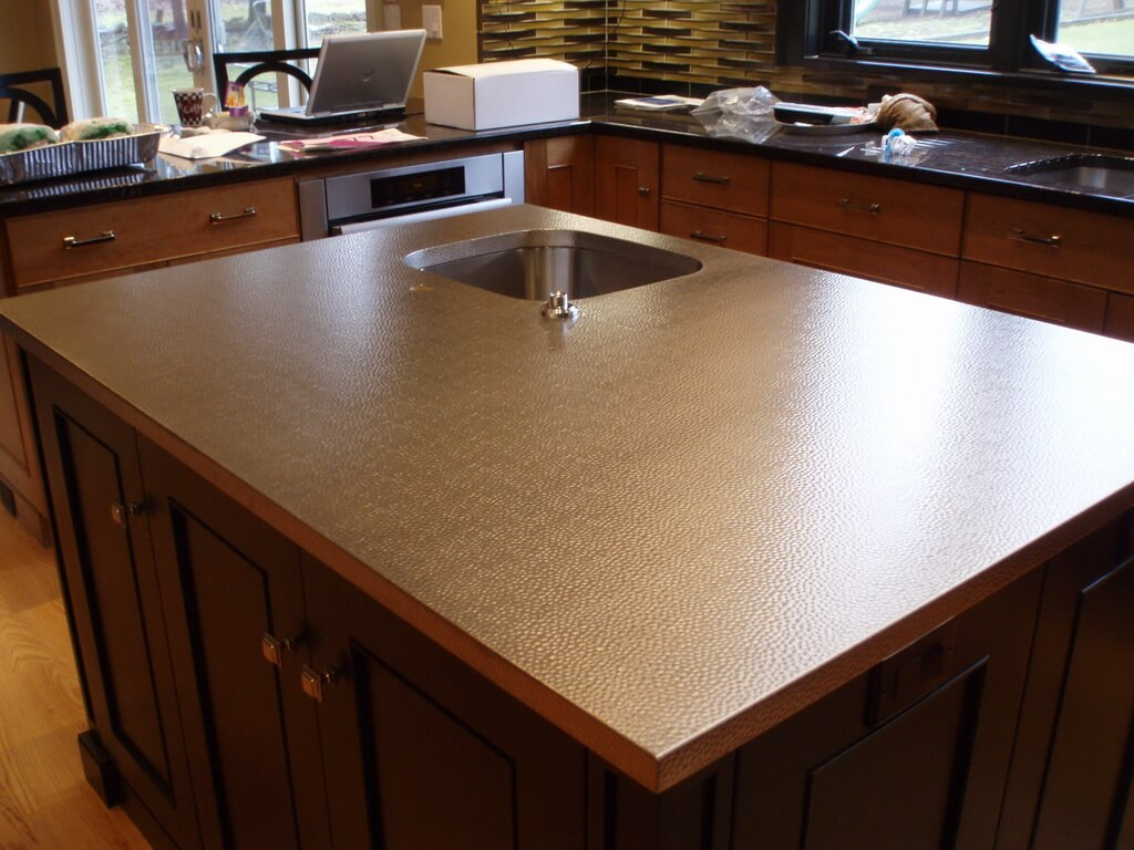 Hammered Stainless Steel Countertops