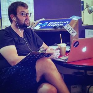 Field Organizer Ryan O'Connor hard at work in the swing state of Michigan.