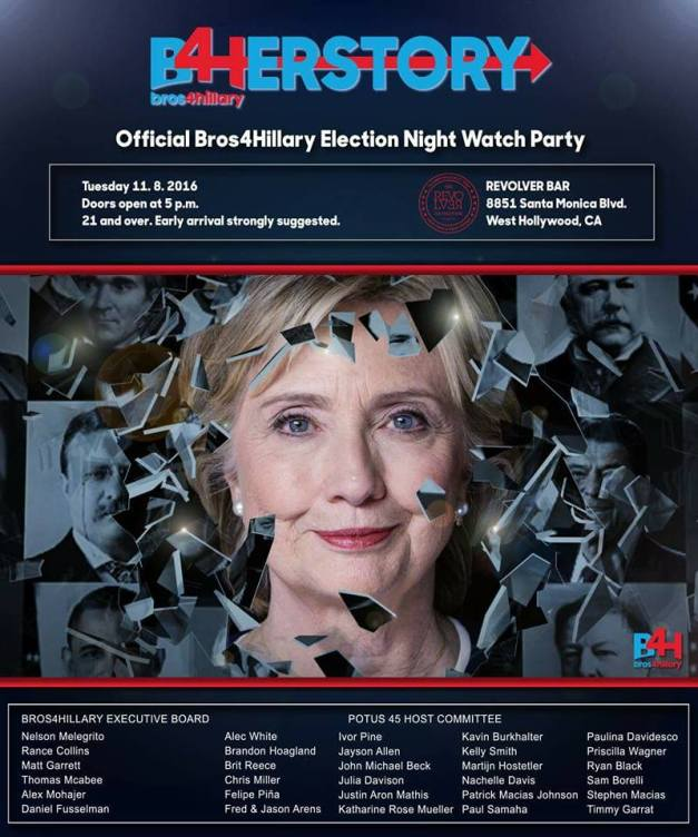 Herstory: The Official Bros4Hillary Election Night Watch Party