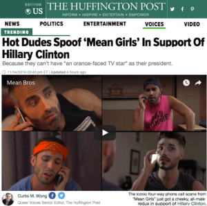 Bros4Hillary featured on The Huffington Post