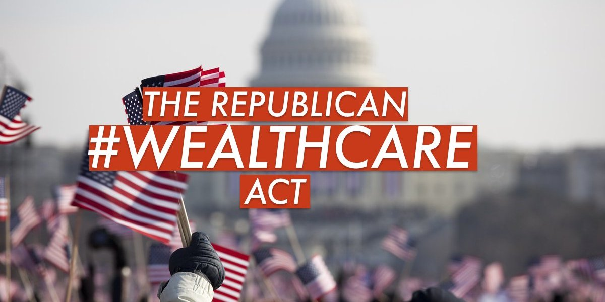 The House GOP voted to approve the American Wealth Care Act on Thursday May 4, 2017 to repeal Obamacare and replace it with the cruel and dangerous AHCA.