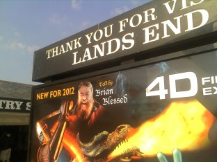 The Land's End 4d Experience, with BRIAN BLESSED.