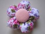 Bros Kain Murah Motif Bunga Kancing Pink